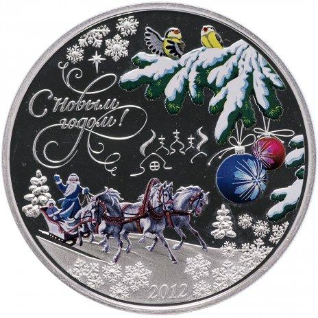 """купить Острова Кука 5 долларов 2012 """"С новым годом"""""""