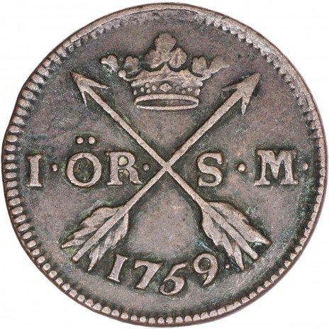 купить Швеция 1 эре 1759