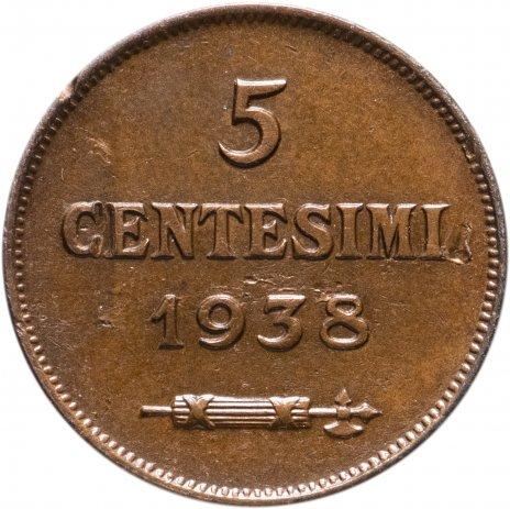 купить Сан-Марино 5 чентезимо (centesimi) 1938