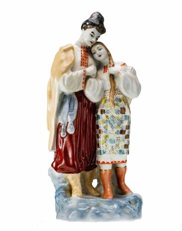 """купить Статуэтка """"Майская ночь"""", фарфор, роспись, Полонский ЗХК, скульптор О.Л.Жникруп, СССР, 1956-1973 гг."""
