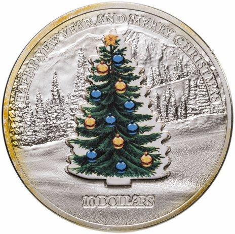 """купить Науру 10 долларов (dollars) 2008  """"Новый год - Ёлочка"""""""