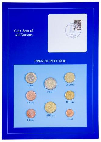 """купить Серия """"Наборы монет всех стран мира""""- Франция (набор из 8 монет и 1 марки в буклете)"""