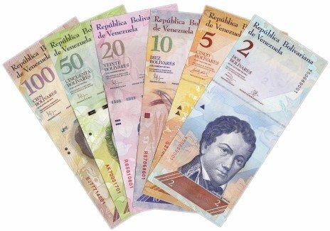 купить Венесуэла набор банкнот от 2 до 100 боливар 2007-2015 гг. (6 штук)