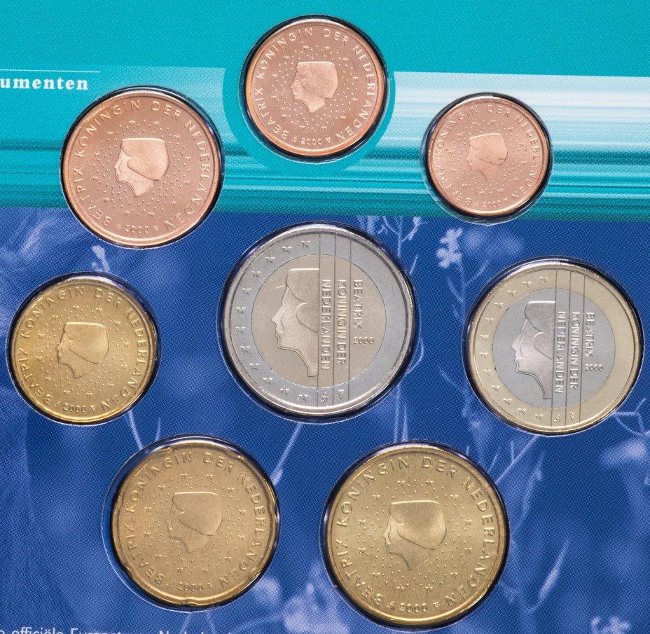 """купить Нидерланды годовой набор евро 2000 (8 монет в официальном буклете """"Природа"""")"""