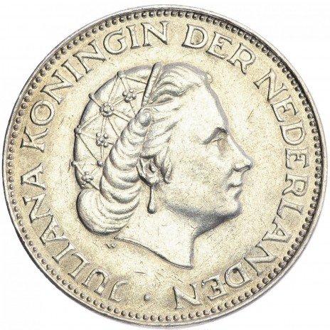 купить Нидерланды 2.5 гульдена 1961