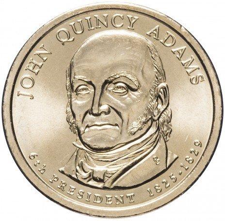 "купить США 1 доллар 2008 P ""6-й президент США - Джон Куинси Адамс"""