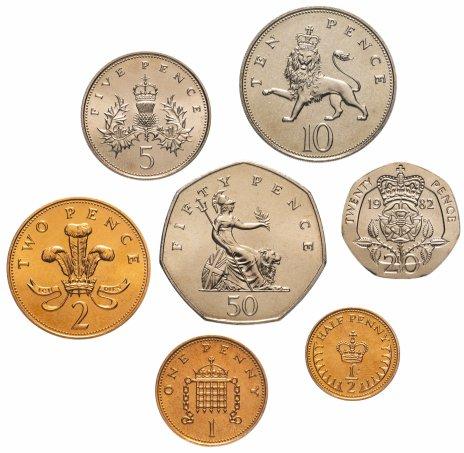 купить Великобритания набор монет 1982 (7 шт.)