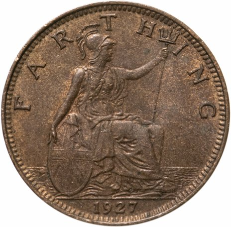 купить Великобритания 1 фартинг (farthing) 1927