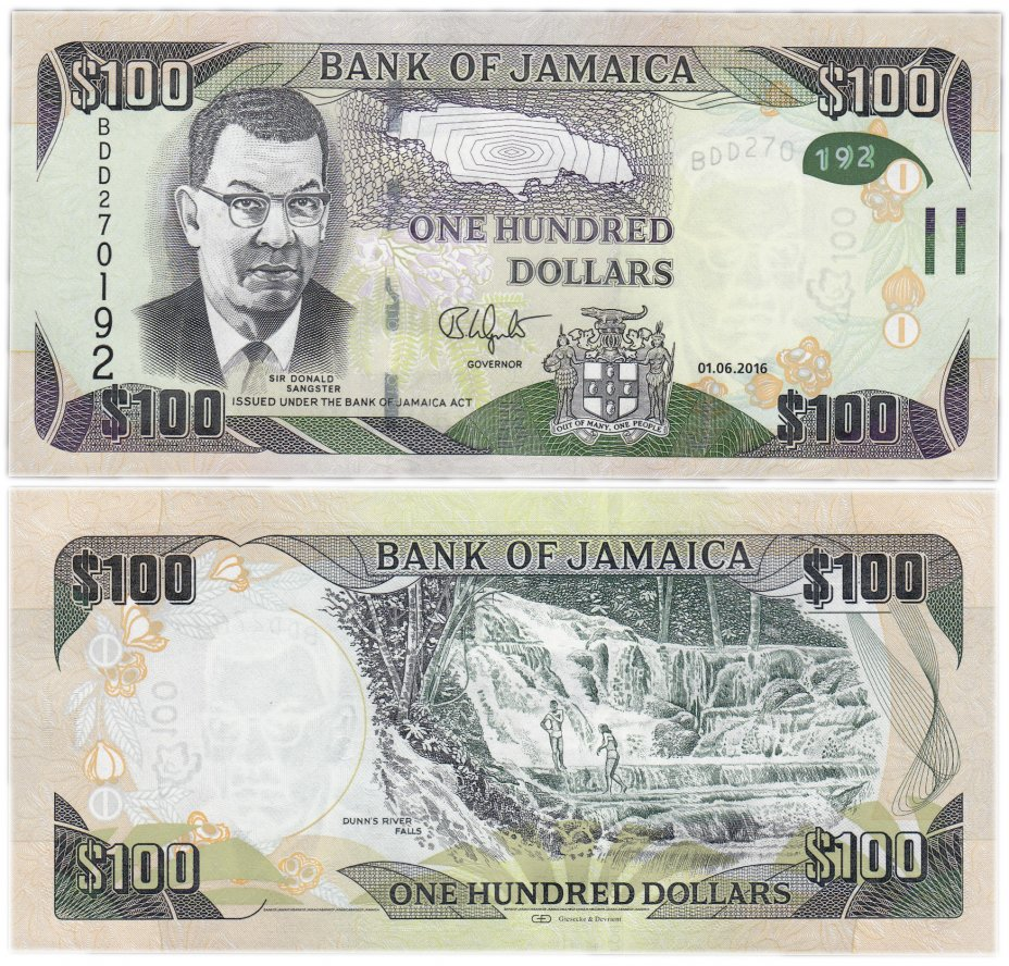 купить Ямайка 100 долларов 2016 (Pick 95)