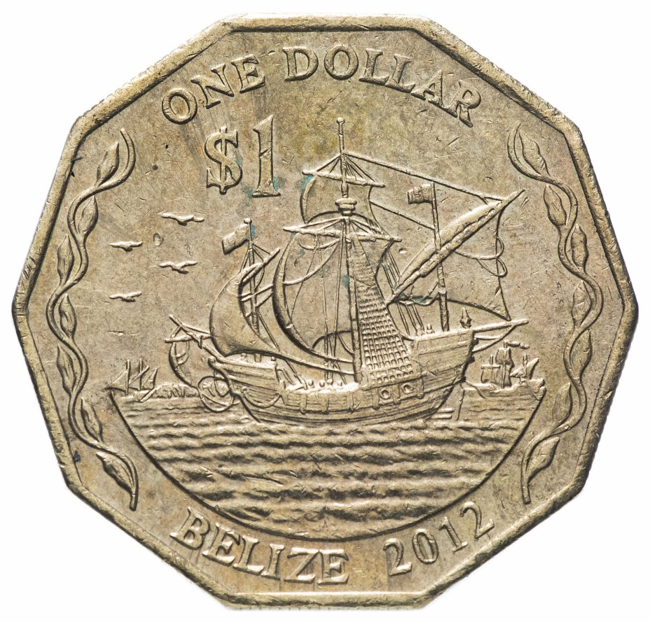 купить Белиз 1 доллар (dollar) 1990-2015, случайная дата
