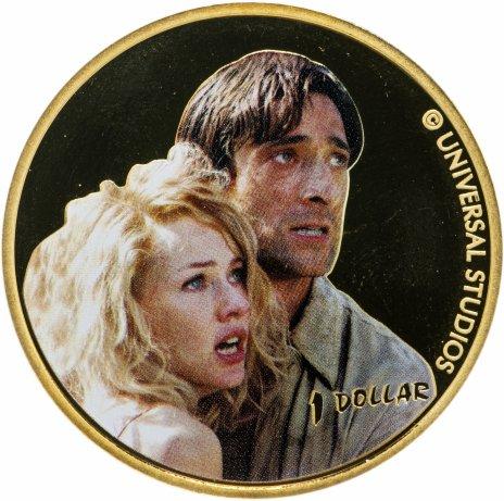 купить 1 доллар (dollar) 2005   Кинг Конг /Энн Дэрроу и Джек Дрисколл/  Новая Зеландия