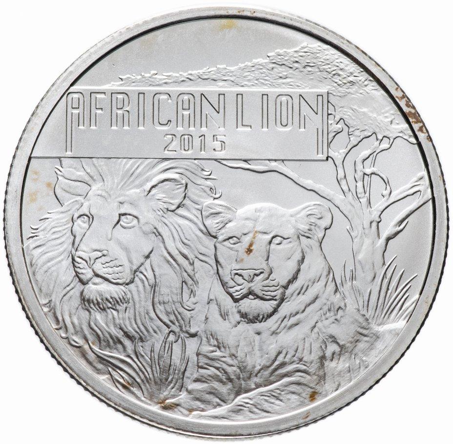 """купить Бурунди 5000 francs (франков) 2015 """"Дикая природа Африки - африканский лев"""""""