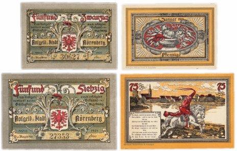 купить Германия (Померания: Нёренберг) набор из 2-х нотгельдов 1921