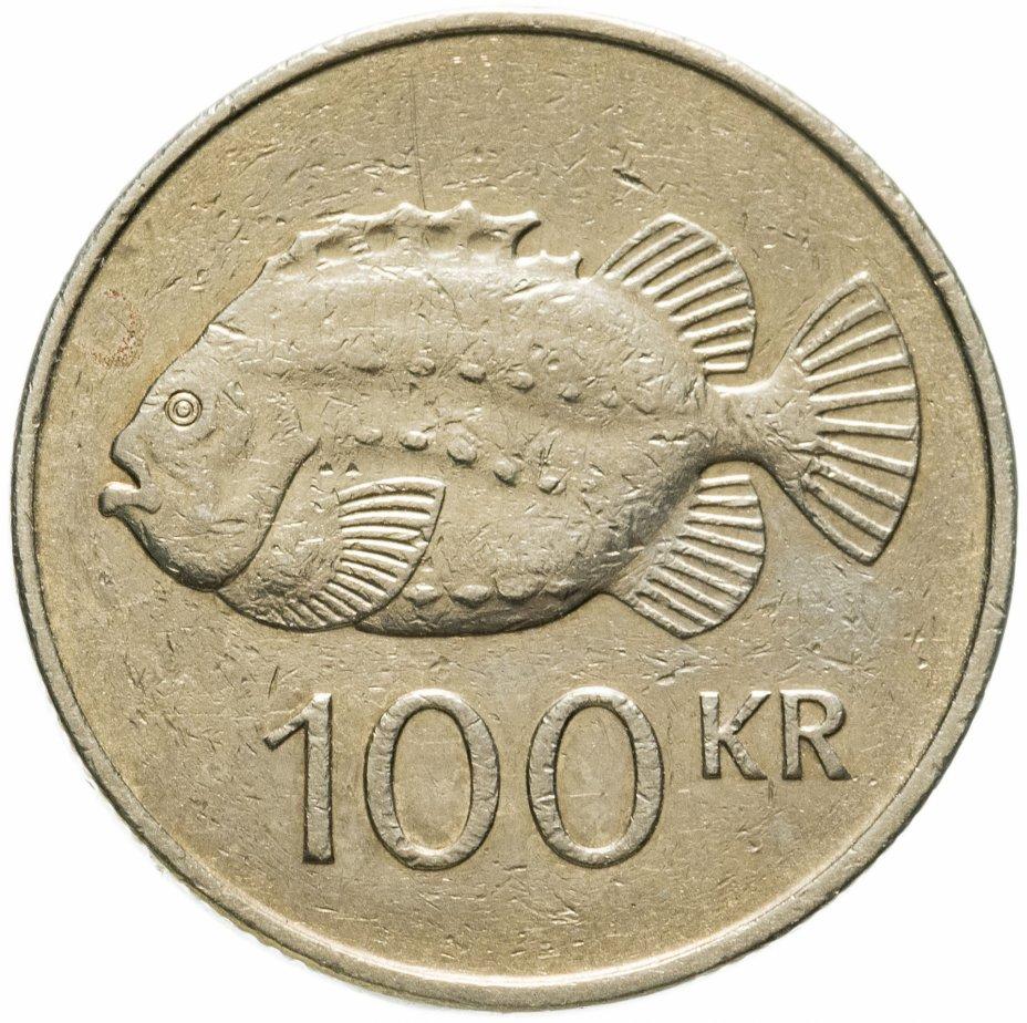 купить Исландия 100 крон (kronur) 1995 Пинагор (Рыба-воробей)