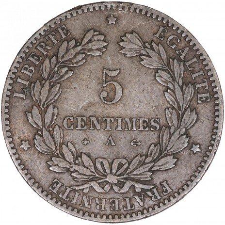 купить Франция 5 сентимов 1877