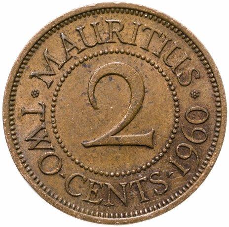 купить Маврикий 2 цента (cents) 1960
