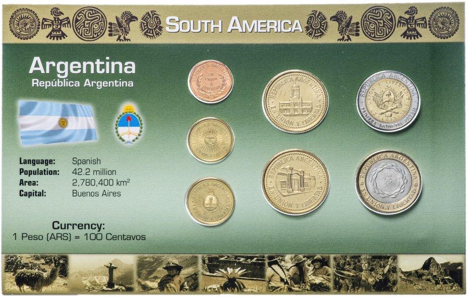 купить Аргентина набор монет 1998-2011 (7 монет в буклете)
