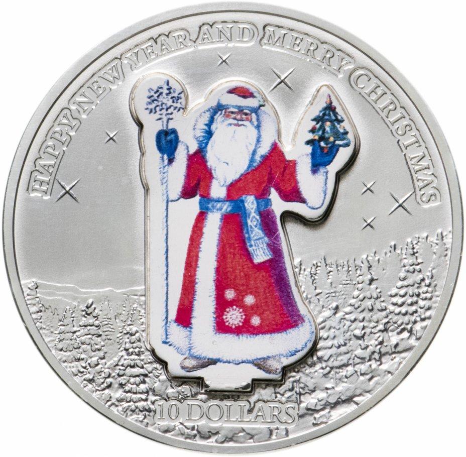 """купить Науру 10 долларов (dollars) 2008  Счастливого нового года и Рождества """"Дед Мороз"""" монета-трансформер в футляре с сертификатом"""