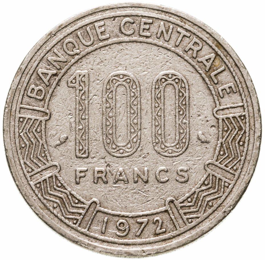 купить Чад 100 франков (francs) 1972