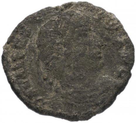 купить Римская Империя Валент II 364–378 гг фоллис (реверс: Виктория идет влево, в руках - венок и пальмовая ветвь)