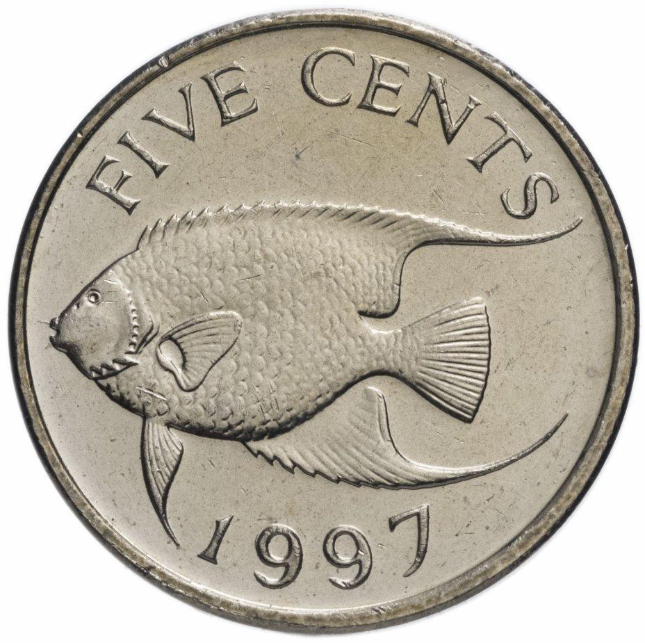 купить Бермуды 5 центов (cents) 1997