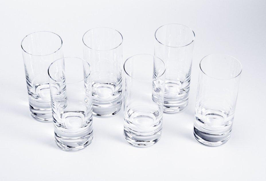 купить Набор из 6 стаканов лаконичной формы, стекло, Западная Европа, 1990-2000 гг.