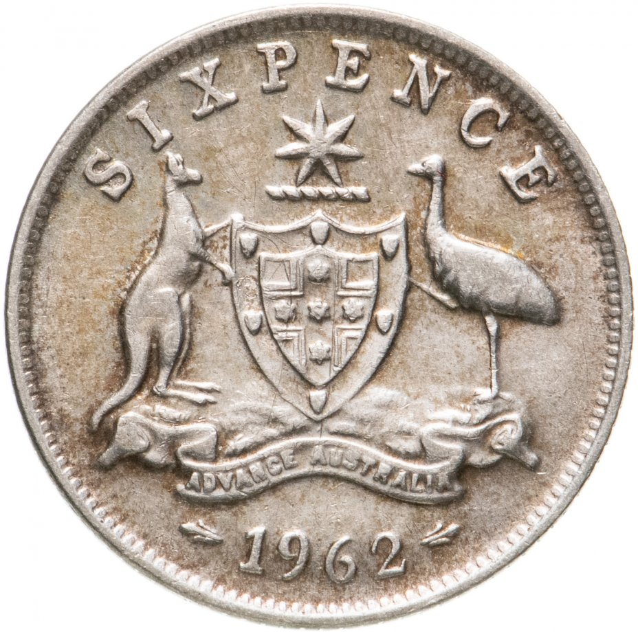 купить Австралия 6 пенсов (pence) 1962