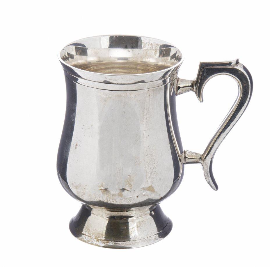купить Кружка пивная лаконичной формы, металл с серебрением, Западная Европа, 1970-1990 гг.