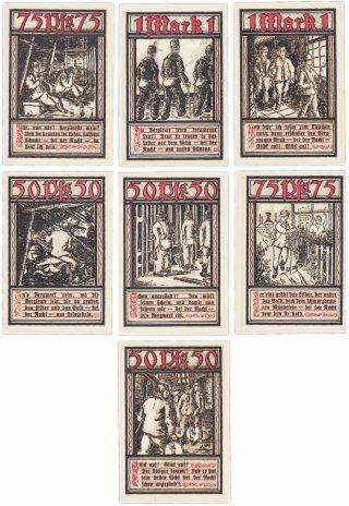 купить Германия (Вестфалия: Бохум) набор из 7 нотгельдов 1921 (127.1b/B1)