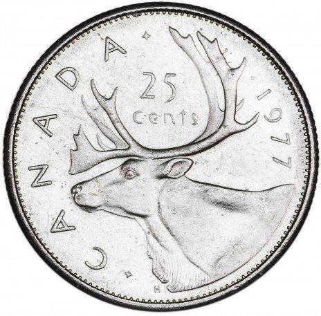 купить Канада 25 центов 1977