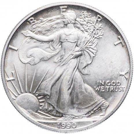 """купить США 1 доллар 1990 """"Шагающая свобода"""""""