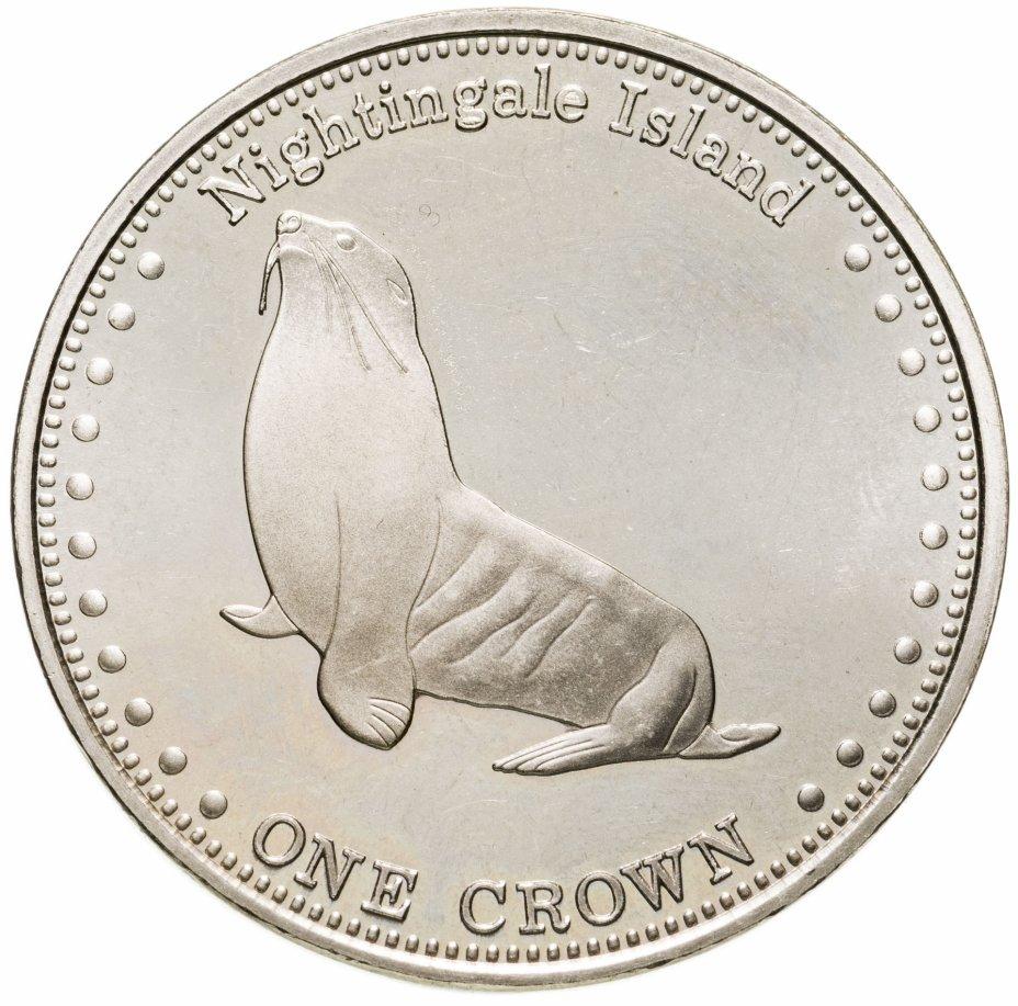 купить Тристан-да-Кунья 1 крона (crown) 2011 субтропический морской котик