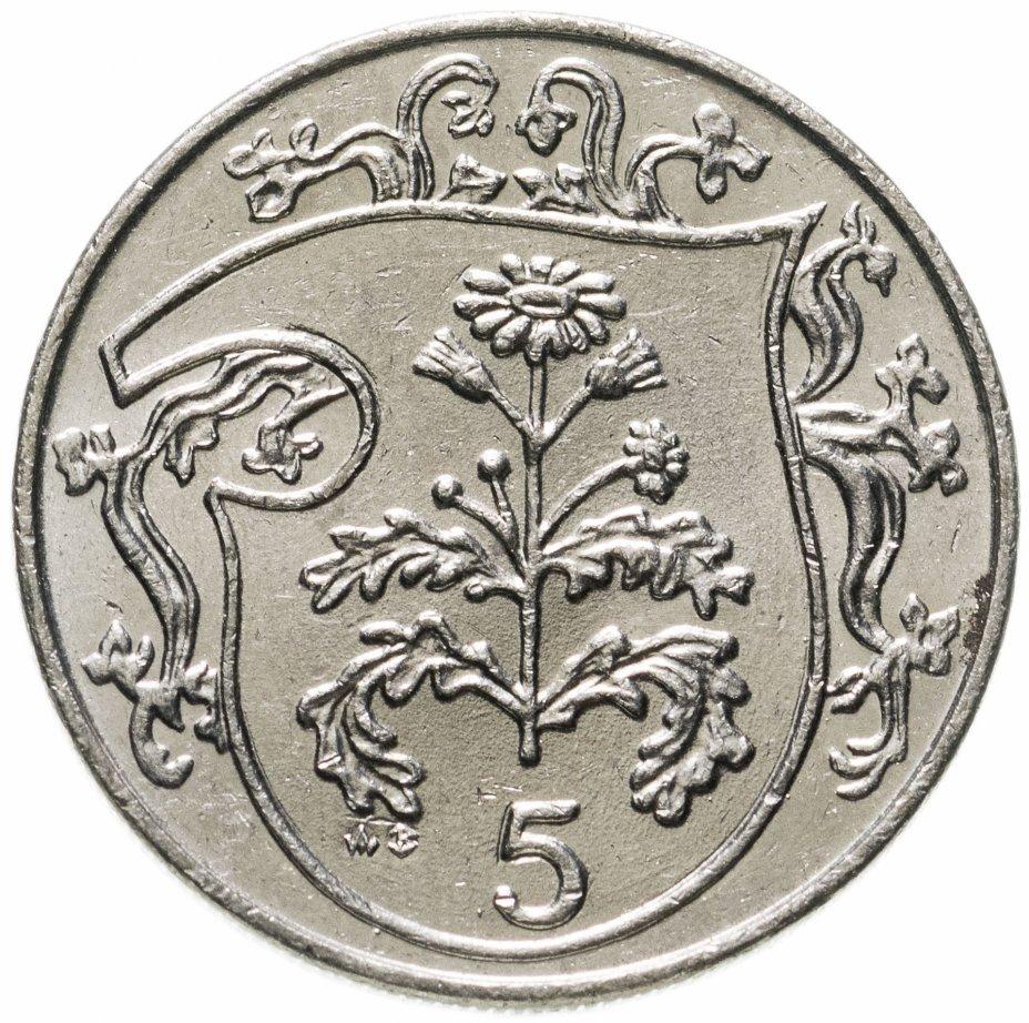 купить Остров Мэн 5 пенсов (pence) 1986 AB