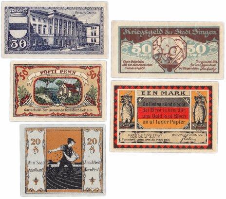 купить Германия (разные земли) набор из 5 нотгельдов 1919-1921