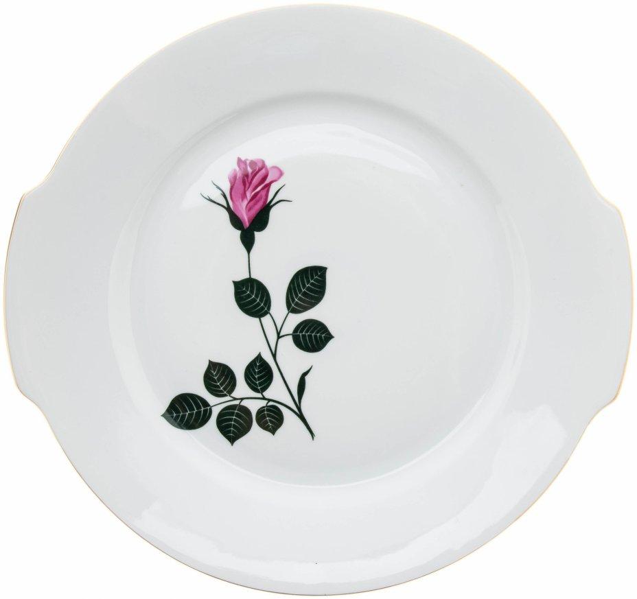"""купить Блюдо с декором в виде розы, фарфор, деколь, мануфактура """"Kahla"""", Германия, 1970-1990 гг."""