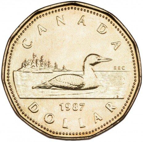 купить Канада 1 доллар 1987