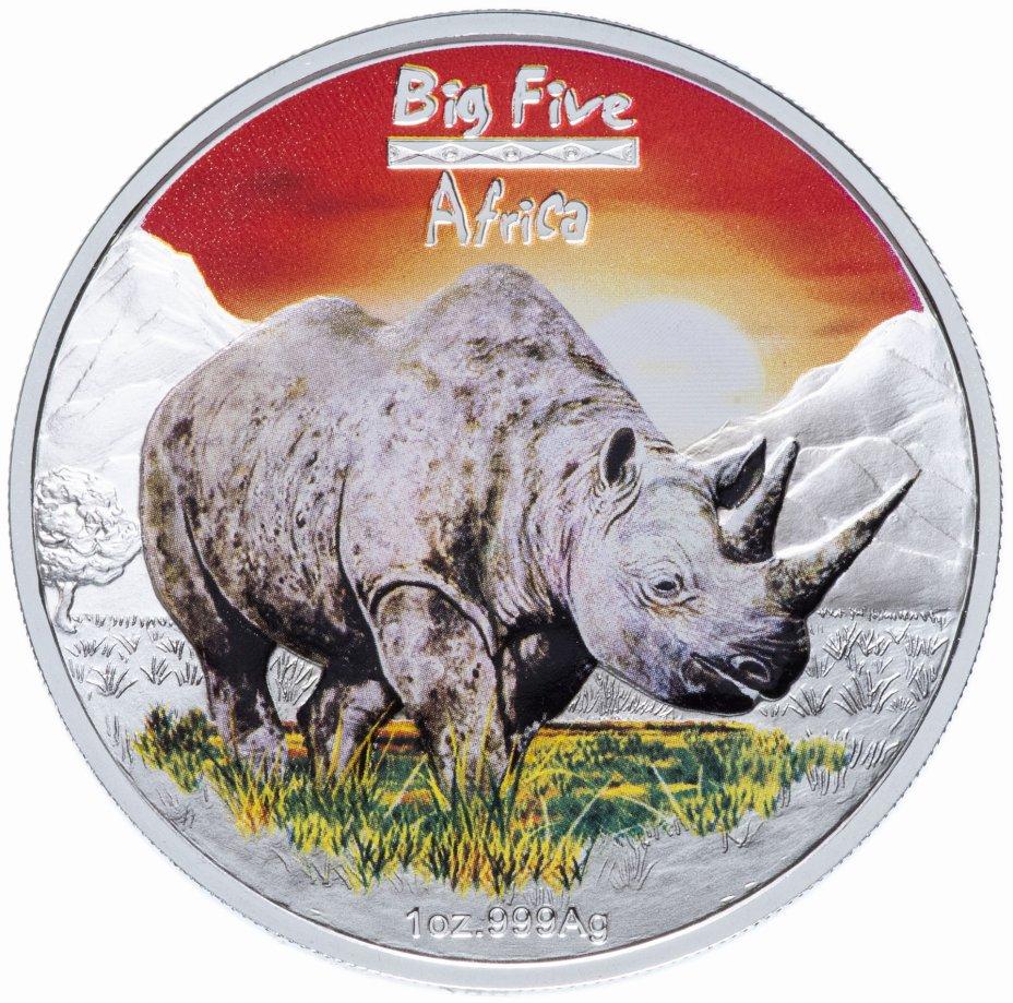 """купить Конго 240 франков 2008 UNC """"Большая африканская пятерка - носорог"""" в футляре, с сертификатом"""