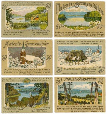 купить Германия (Шлезвиг-Гольштейн: Маленте) набор из 3-х нотгельдов 1921