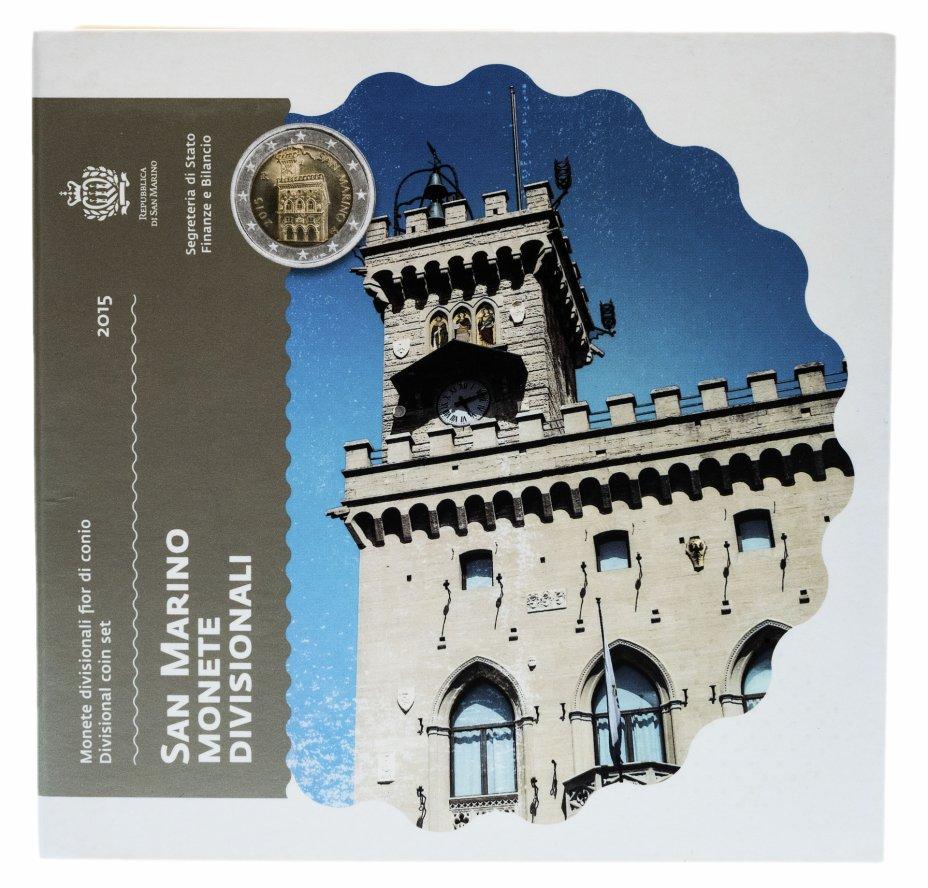 купить Сан-Марино годовой набор евро 2015 (8 монет в официальном буклете)