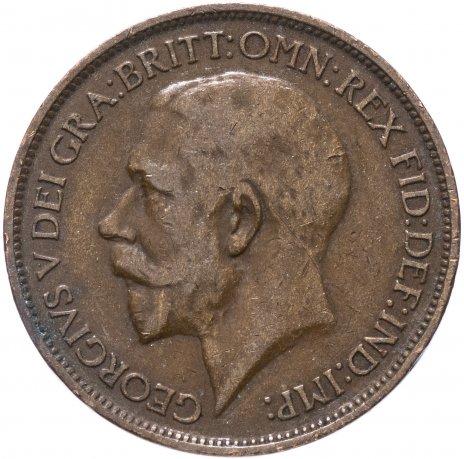 купить Великобритания 1/2 пенни 1911-1927 Георг V (большой портрет), случайная дата