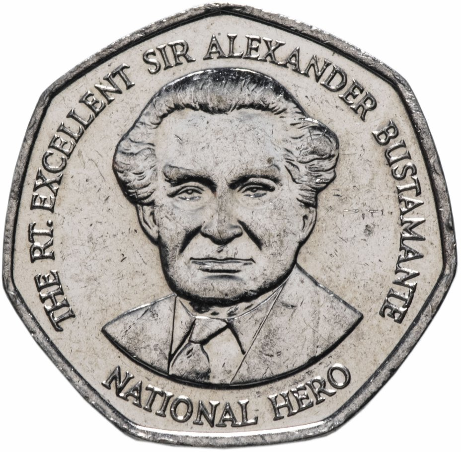 купить Ямайка 1 доллар 1994-2008 Национальный герой Александр Бустаманте