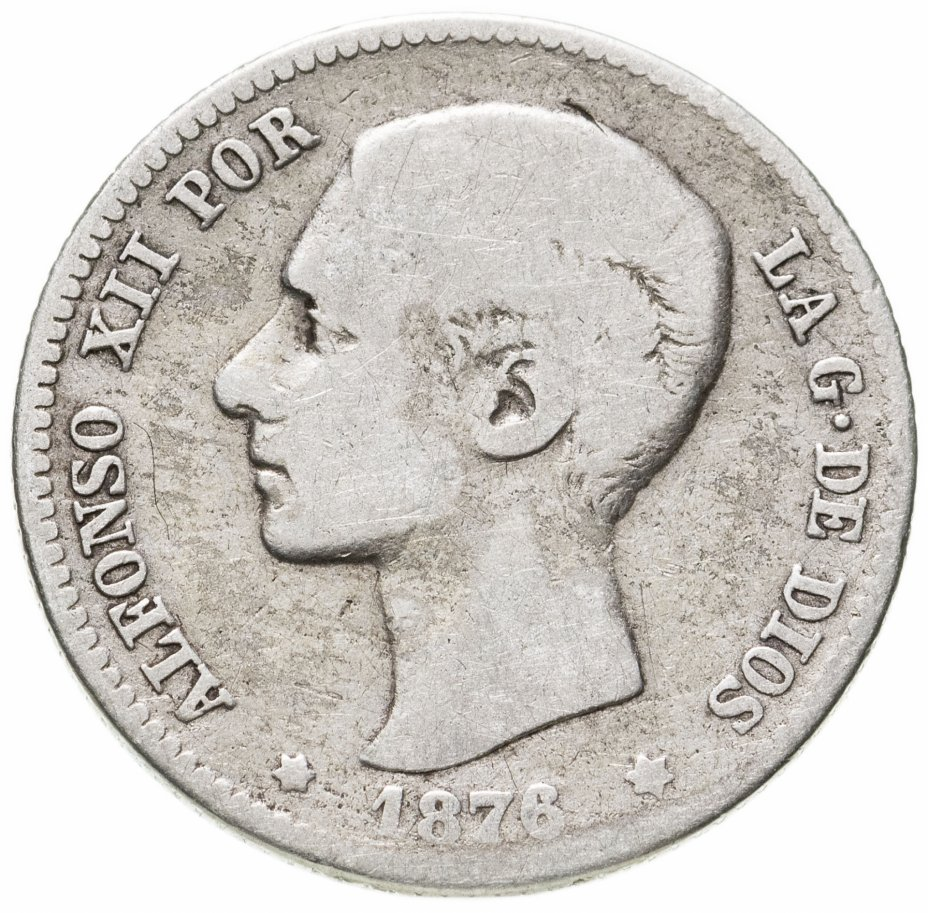 купить Испания 1песета (peseta) 1876