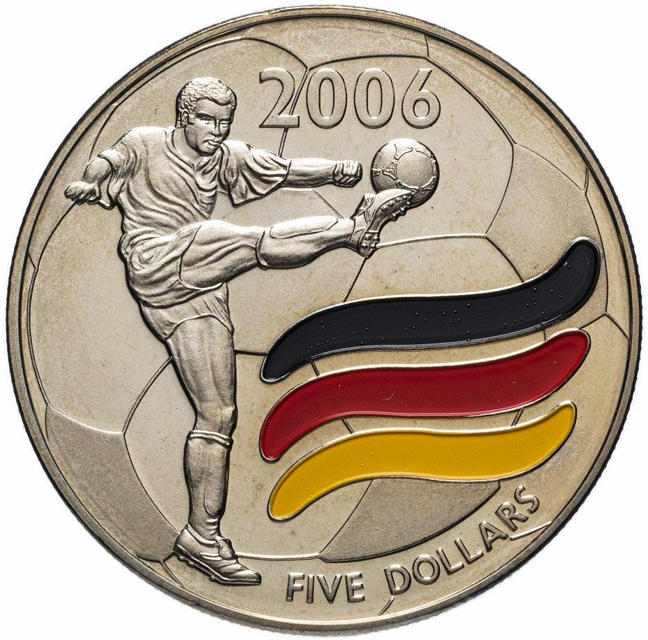 купить Либерия 5 долларов (dollars) 2003 Чемпионат мира по футболу 2006 - Германия