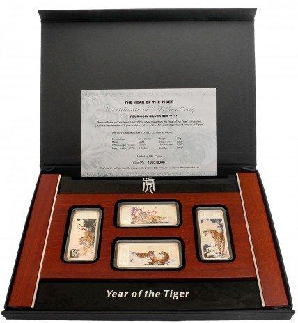 """купить Либерия набор монет """"Год тигра"""" 5 долларов 2010"""