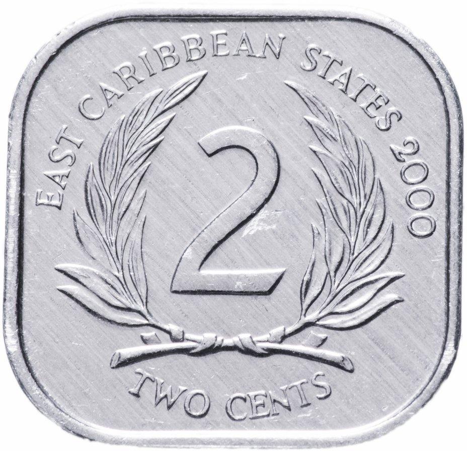 купить Восточные Карибы 2 цента (cents) 2000
