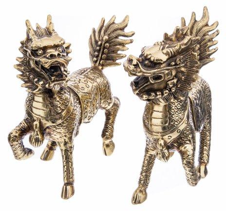 """купить Набор из 2 статуэток """"Драконы удачи (фен-шуй)"""", металл, литье, Китай, 2000-2020 гг."""
