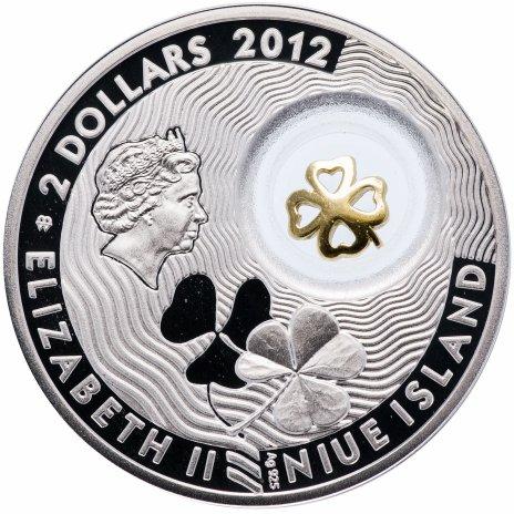 """купить Ниуэ 2 доллара 2012 """"Монеты на счастье - Четырехлистный клевер"""""""