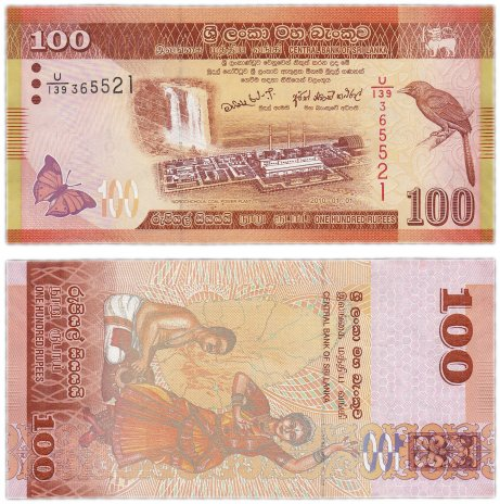 купить Шри - Ланка 100 рупий 2010 (Pick 125a)