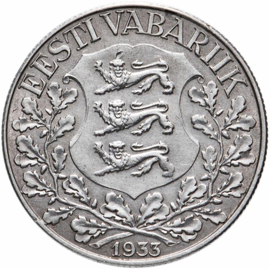 """купить Эстония 1 крона 1933 """"10 лет песенному фестивалю"""""""