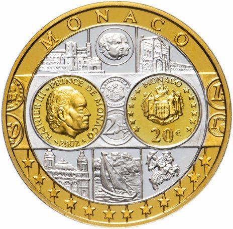 купить Жетон 20 евро, Монако